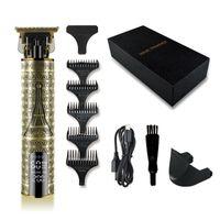 USB аккумуляторный T Blade Electric Trimmer Trimmer Professional LED дисплей мужские волосы Checkper 3 рычаги привалов