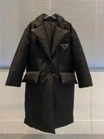 Kadın Ceket Aşağı Parkas Uzun Ceket Kış Stili ile Betl Korse Lady İnce Moda Ceketler Cep Büyük boy Coats Isınma