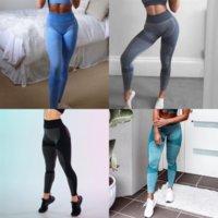 EQL L-Solid Color Women Yoga Lady High Yoga Pant Fitness Leggings Vita Sport Sport Tights Indossare Leggings Pantaloni da fitness elasticizzati Complessivamente pieno