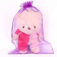 50 unids / lote tamaño grande 35x50cm bolsa de organza bolsas de joyería con cordón con cordón embalaje bolsa bolsas decoración de boda fiesta de regalo de juguete bolsa1