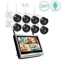 أطقم الكاميرا اللاسلكية جينوف 8CH 1080P أمن الوطن في الهواء الطلق 3MP CCTV wifi كاميرات NVR 12 بوصة شاشة LCD P2P ماء camara1