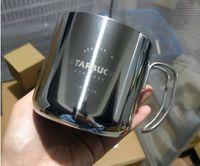 Около 400 мл золота и серебряные Starbucks Cup 304 из нержавеющей стали кофейная чашка туристическая бутылка для воды простая чашка подарок