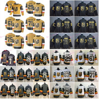 Vegas Golden Knights 7 Alex Pietrangelo 2020-2021 Ouro Third Hockey Jersey 29 Marc-Andre Fleury 61 Mark Stone 71 William Karlsson Pacioretty