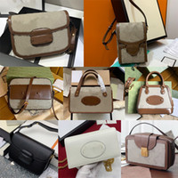 상자 최고 품질의 여자 horsebit 1955 작은 어깨 가방 가방 핸드백 미니 지갑 messenger 가방 지갑 체인 2021