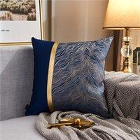 Coussin de coussin moderne de luxe Côte d'or Cône d'oreiller multicolore pour chambre à coucher Salon Vert Blue Gris Crème Colore PPD3891