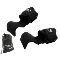 2 stks Gewichtheffen Haak Hand Bar Grip Pols Straps Handschoen Gewichtheffen Sterkte Training Sport Gym Fitness Hook Handschoenen Q0108