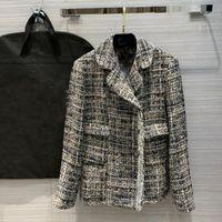 Женские куртки 2021 роскошные осени женские высокое качество блестение мода Tweed куртка пальто женская верхняя одежда одежда DDXGZ2V 11.11