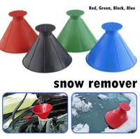 눈 리무버 마법 창 앞 유리 자동차 얼음 스크레이퍼 눈 던지는 콘 모양의 깔때기 객실 청소 청소 도구 SEA 해운 CCA12609