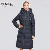 MIEGOFCE 2020 Новая зимняя женская куртка длинная прогревная куртка для куртки в стоять воротник с капюшоном холодное теплое пальто ветрозащитный Parkas1