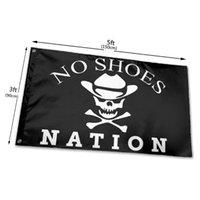Keine Schuhe Nation Flaggen Banner 3x5ft 100D Polyester Schnelles Verschiffen lebhafte Farbe mit zwei Messing-Tüllen