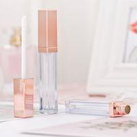 5ml Transparente pequeno vazio lábio fino tubo de gloss plástica vazia Tubo Lipgloss DIY Lip Gloss Máscara Garrafas Creme Containers Rose Gold recarregáveis