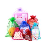 Toptan İpli Organze Çanta Hediye Sarma Paketleri Hediyeler Torbalar Takı Kılıfı Şeker Çanta Paketi İş Mevcut Çok Renkler
