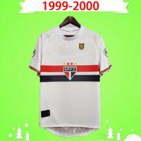 1999 2000 Sao Paulo Retro Fussball Jersey Home White 99 00 Classic Vintage Home Away Football Hemd Thai Qualität Camisa de Futebol