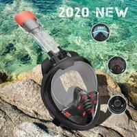 2021 새로운 수중 스쿠버 안티 안개 가득 차있는 얼굴 다이빙 마스크 스노클링 싱글 호흡 튜브 스쿠버 다이빙 장비 수영 고글