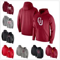 Ohio State Buckeyes Mens Hoodies Sweatshirt Oklahoma FOOD Hoodie Langarm Pullover Mode Pullover Grau