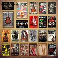 2021 CALSSIC TOP RETRO POP MUSIQUE MUSIQUE Panneau d'étain Musique Vintage Métal Plaque Fstival Rock Jazz Mur Art Affiche pour Bar Pub Club Chambre Décor mural