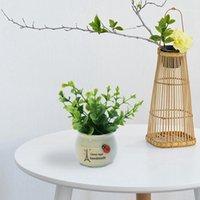 Fiori decorativi Corone Artificiale Simulazione in vaso Artificiale Piccolo Fortunato Frutta Fortunato FAI DA TE Giardino Da Giardino Da Giardino Vaso Decorazione Decorazione Plant Gifts1