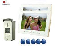 """Yobang sécurité 10"""" pouces Sonnette Sonnette vidéo Intercom Kit 1 caméra blanc 2-moniteur de vision nocturne Wired vidéophone"""