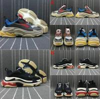 2020 Moda Günlük Ayakkabılar Parlak Citron Triple-S 17FW Sport Sneakers Tripler Siyah Pembe Kristal Alt Paris Triple S Lüks Tasarımcı Ayakkabı