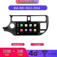 2.5d Écran Android 9.1 Voyageur multimédia de voiture pour KIA RIO 2012-2014 Radio GPS Navigation Auto Radio WiFi Bluetooth1
