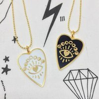 Evil Eye Halskette Herz Anhänger Halsketten Gold Silber Überzogene Kette Frauen Mädchen Modeschmuck Freies Verschiffen