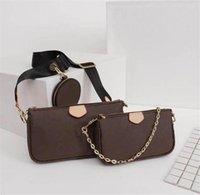 Sac à main de sac à main de luxe de luxe Designer Multi Pochette 3 pcs sac de soirée