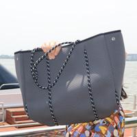 Luxo Mulheres Tote Saco Crossbody Big Shopping Neoprene Bag Light Bolsas Mulheres Bolsas Bolsas Femininas Bolsas