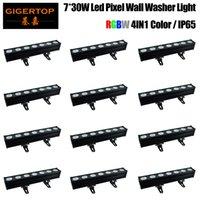12pcs dmx LED parete alta potenza punto LED RGB della barra 3in1 7x30w pannocchia rgb parete rondella principale pixel lavaggio chiaro luce parete