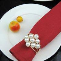 Multi Farben Serviette Ringe Küchentisch Perle Servietten Inhaber Splitter Goldene Farbe Tuch Ring Neue Ankunft 3 6km L1