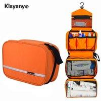 Klsyanyo Multi-fonctionnel imperméable pendaison pendaison cosmétique sac de voyage cosmétique de toilette Neceser lavage sac maquillage nécessaire organisateur T200110