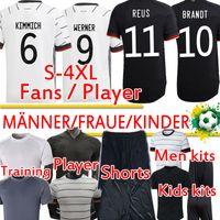 Ger Futbol Formaları Birçok Fanlar Oyuncu Sürüm Eğitim Werner Reus Kimmich HAVERTZ KROOS GNAPRY Erkekler Kadınlar Çocuk Kitleri Futbol Gömlek Pantolon Top