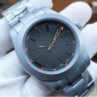 Top Luxury Menes Watch EXP AIR KING SERIES 116900 و 216570 أسود 40MM الاتصال الهاتفي التلقائي الميكانيكية 316 الصلب بنشرات مصمم الساعات