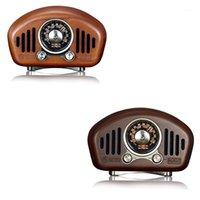 Altavoces portátiles Vintage Retro Wood FM SD MP3 Bluetooth Transistor Radio recargable con altavoz, soportes auxiliar1