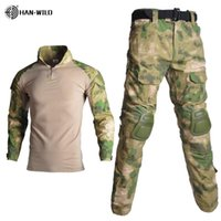 HAN WILD Tactical Camouflage Uniform Clothes Suit Men Army c...