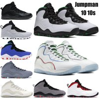 Chaussures de basketball pour hommes 10 10S Jumpan Lumière fumée gris Chicago Cool Grey Tinker Wings Drake Streel Gris Ovo Black Hommes Formateurs Sneakers