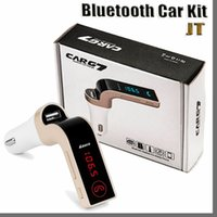 JTD سيارة لاسلكية بلوتوث MP3 FM الارسال المغير 2.1A مجموعة لاسلكية دعم G7 خالية من الأيدي مع شاحن سيارة USB مع حزمة