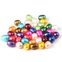 Oval Oyster Pearl 6-7mm Mix 15 Kolor Świeżej Wody Natural Pearl Prezent DIY Luźne Dekoracje Parking Próżniowy Cały WMTXQN Firs2019