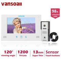 فيديو باب الفيديو Vansoall البصرية إنترفون الجرس 7 '' TFT LCD الهاتف السلكي نظام الكاميرا في الهواء الطلق نظام الكاميرا دعم فتح مع كابل 30 متر