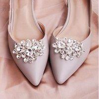 Klasik Kadın Ayakkabı Toka Büyük Su Damlası Avusturyalı Kristal Gelin Ayakkabı Aksesuarları Takı Düğün Ayakkabı Klipleri Gelin için