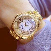 BS Bee Kardeş Marka Bayanlar Elbise İzle Kadınlar Altın Kuvars Saatler Lady Saatler Relogio Feminino Saat Kadın Bilezik Saatler Y1220