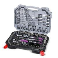 Set di attrezzi a mano professionale 120 PC Set Strumenti per riparazione auto Chiave a cricchetto Chiave a chiave Kit di presa veloce