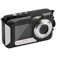 48MP Подводная водонепроницаемая цифровая камера двойной экран видеокамера точка видеокамеры и снимает цифровую камеру EM881