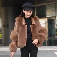 Женский меховой FUX ARIVALS Натуральная кожаная куртка Настоящее пальто овчины зима густые теплые пушистые S7932