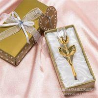 다채로운 상자 파티와 함께 패션 크리스탈 장미 호의 호의 아기 샤워 기념품 장식품 낭만적 인 웨딩 선물 61 P2
