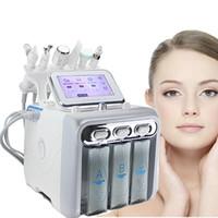 جديد 6in1 hydrafacial dermabrasion آلة الماء الأكسجين النفاثة قشر هيدرا الجلد الغسيل الوجه جمال الوجه العميق التطهير RF الوجه رفع المطرقة الباردة