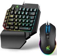 RGB Backlit Gaming Keyboard et Mouse Combo, 39 Keys Pubg KeyCap Version Mécanique Mécanique Senteur Rainbow Backlit Clavier, support du poignet