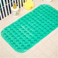욕조 매트 안티 슬립 마사지 매트 35 * 65cm 욕실 피어싱 된 PVC 안전 패드 흡입 컵 목욕 비 슬립 매트 욕실 액세서리 E 40 K2