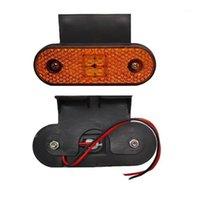 100x 4Deled Red Late Side Marker Light 24V LED Lampada per lampada posteriore Lampada per camion, roulotte RV Boaks Boaks con staffa1