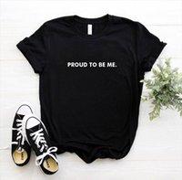 자랑스럽게 나에게 편지를 쓰고 여자 티셔츠 코튼 캐주얼 재미있는 티셔츠 선물 90 년대 레이디 용 소녀 드롭 SP S 909