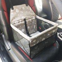 Dozzlor Tableau de siège de voiture de chiens imperméable portable porteur pliable avec ceinture de sécurité Lit de couchage chaleur chaud1